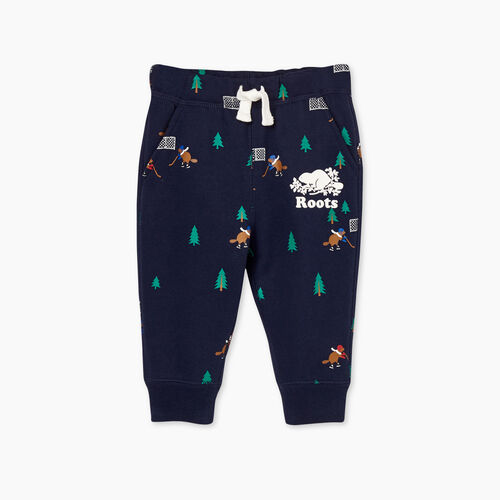 Roots-Gifts Buddy The Beaver-Baby Buddy Park Slim Sweatpant-Navy Blazer-A