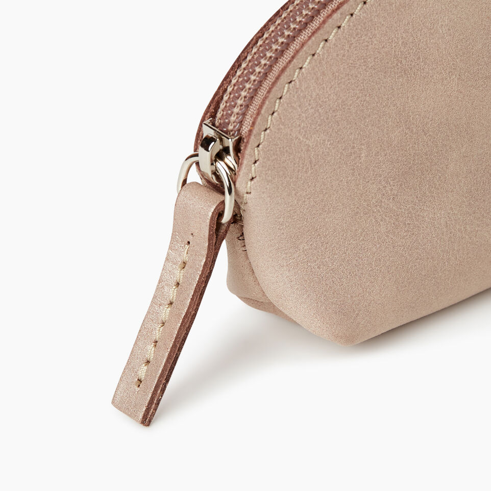 Roots-Leather Collections-Small Euro Pouch-Champagne-D