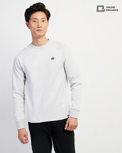 Roots-Men Sweatshirts & Hoodies-Journey Crew Sweatshirt-Vapour Grey Mix-A