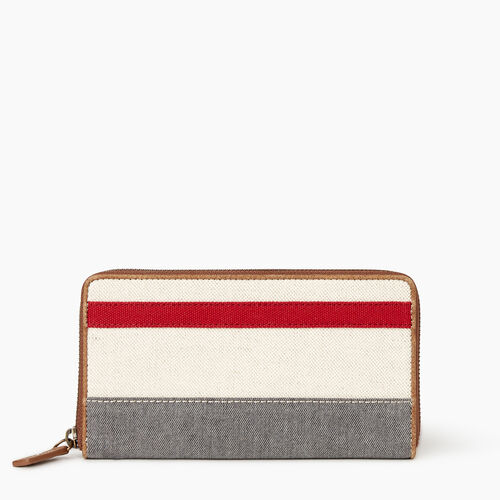 Roots-Women Our Favourite New Arrivals-Cabin Wallet-Grey Oat Mix-A