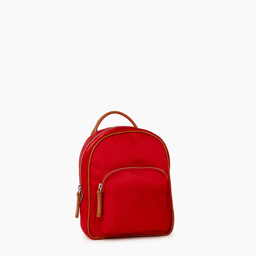 Roots-Leather  Handcrafted By Us City Bags-City Chelsea Pack Nylon-Red-A