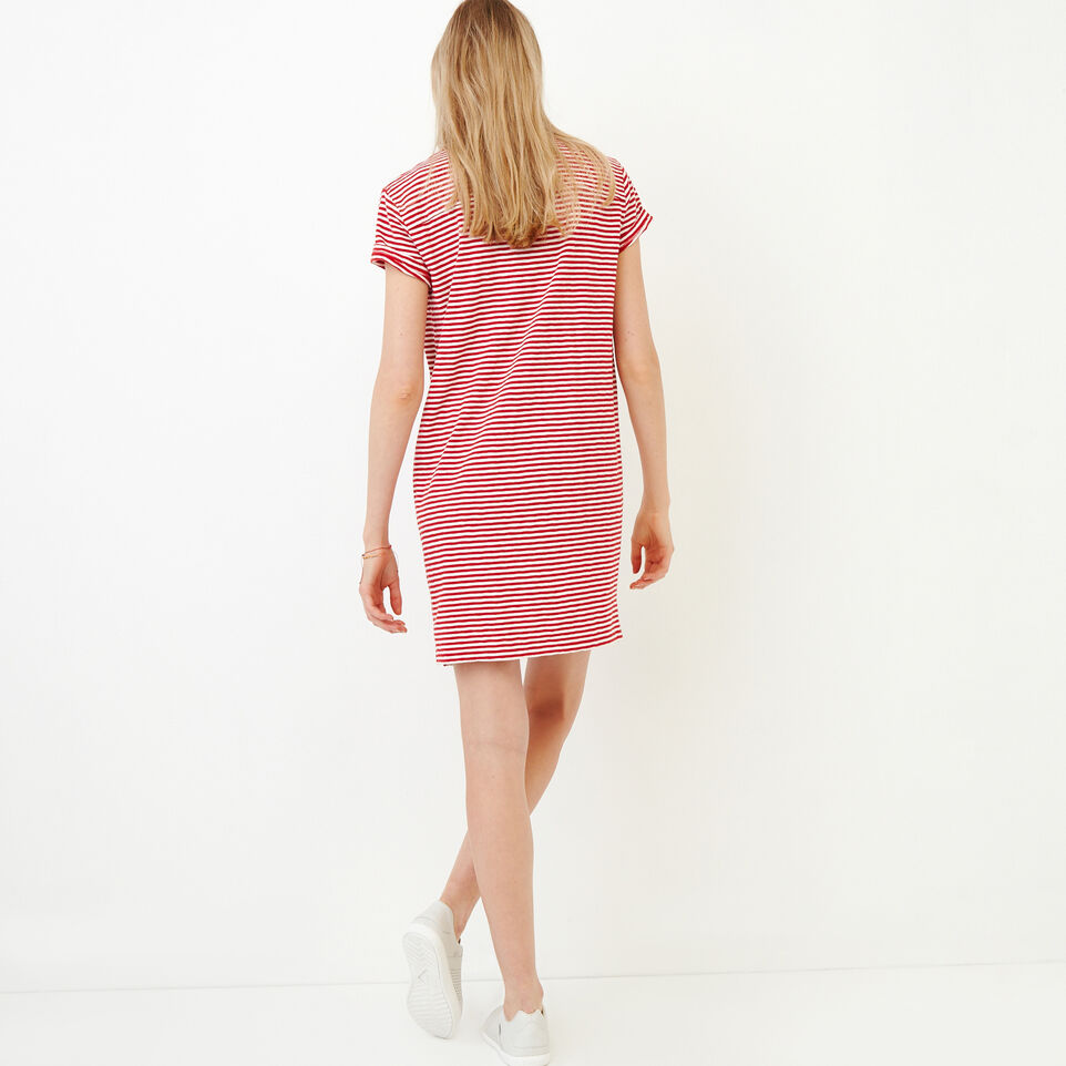 Roots-Women Our Favourite New Arrivals-Madeira Pocket Dress-Sage Red-D