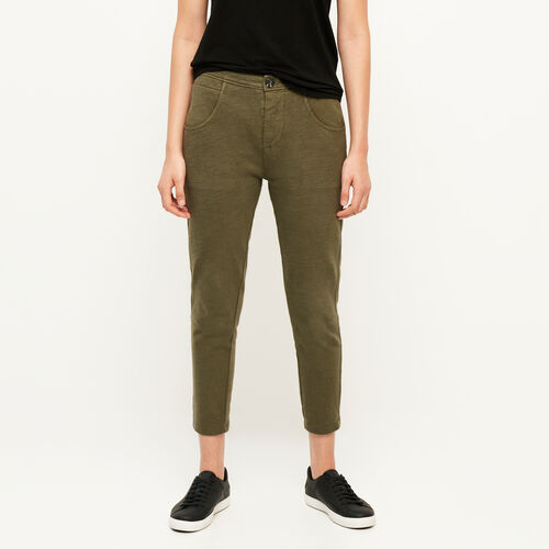 Roots-Women Bottoms-Jasper Knit Pant-Ivy Green-A