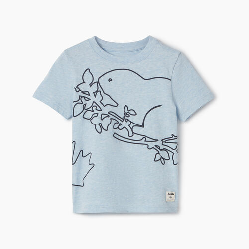 Roots-Kids New Arrivals-Toddler Super Cooper T-shirt-Celestial Blue Mix-A