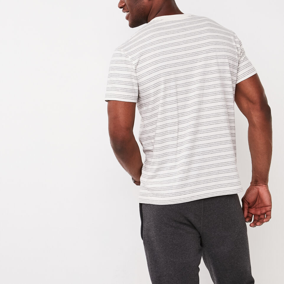Roots-undefined-Mens Cooper Stripe T-shirt-undefined-D
