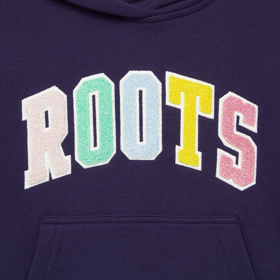 Roots-Kids Categories-Girls Roots Varsity Kanga Hoody-Eclipse-D