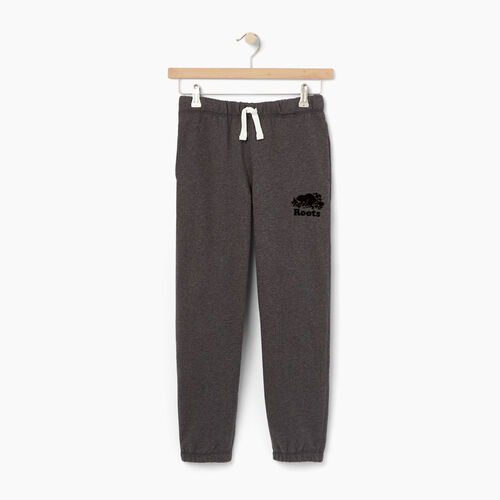 Roots-Winter Sale Kids-Boys Original Sweatpant-Charcoal Mix-A