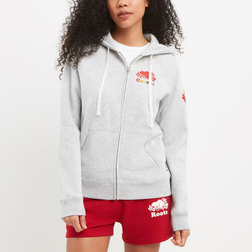Roots-New For July Canada Collection By Roots™-Womens Cooper Canada Full Zip Hoody-Snowy Ice Mix-A