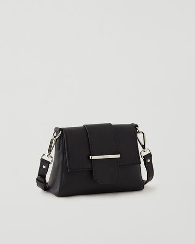 Roots-Leather Leather Bags-Mini Phoebe Bag Cervino-Black-A