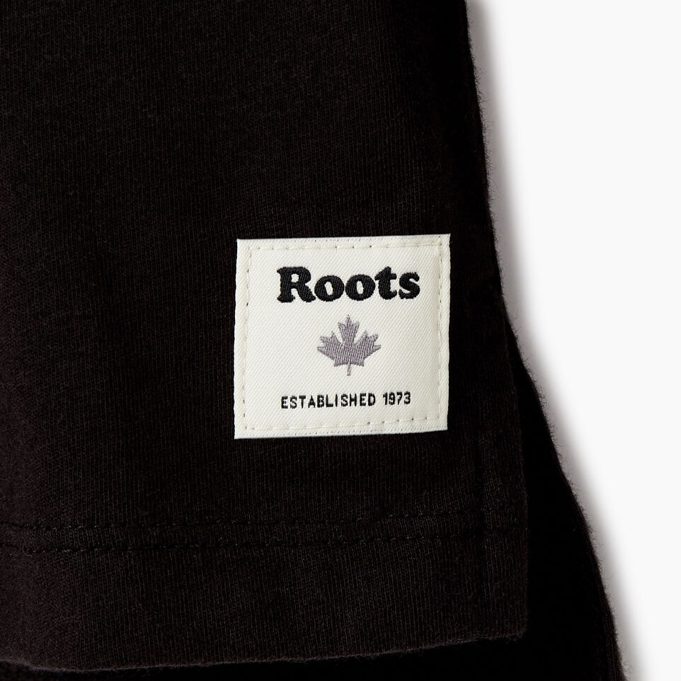 Roots-Kids New Arrivals-Girls 2.0 T-shirt-Black-C