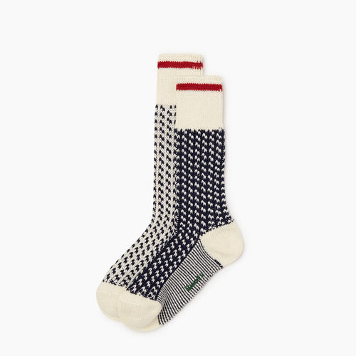 Roots-New For October The Roots Cabin Collection™-Roots 3 Point Cabin Sock 2 Pack-Navy Blazer-A