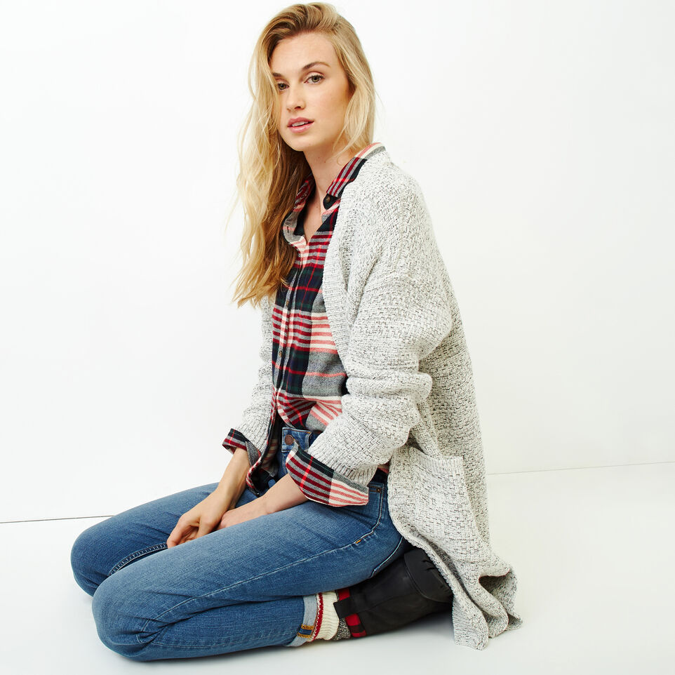 Roots-Women Tops-Flannel Shirt-Cabin Red-B