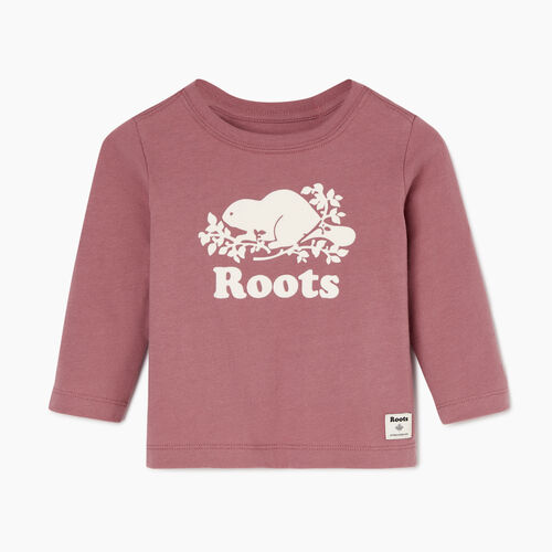 Roots-Kids Our Favourite New Arrivals-Baby Original Cooper Beaver T-shirt-Wistful Mauve-A