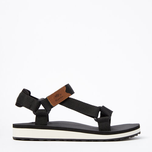 Roots-Sale Footwear-Womens Tofino Sandal Web-Black-A
