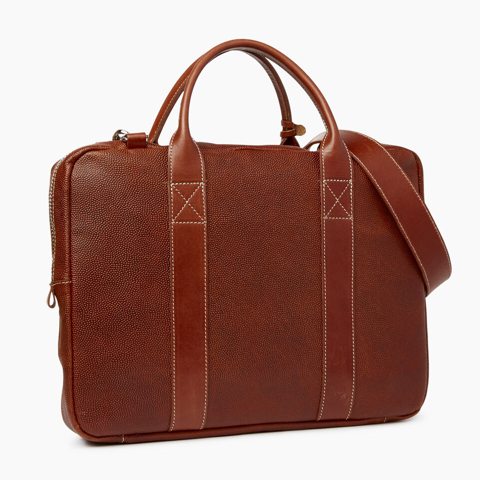Roots-Leather  Handcrafted By Us Our Favourite New Arrivals-Wellington Laptop Bag Horween-Cognac-C