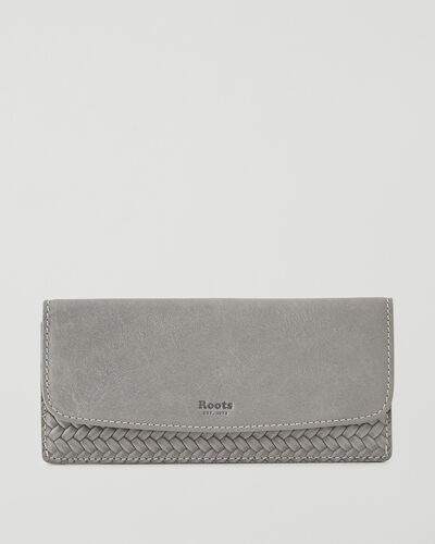 Roots-Leather Wallets-Liberty Wallet Woven-Quartz-A
