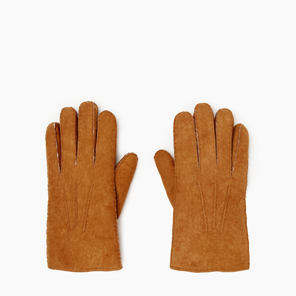 Roots-Leather Categories-Mens Shearling Glove-Tan-B