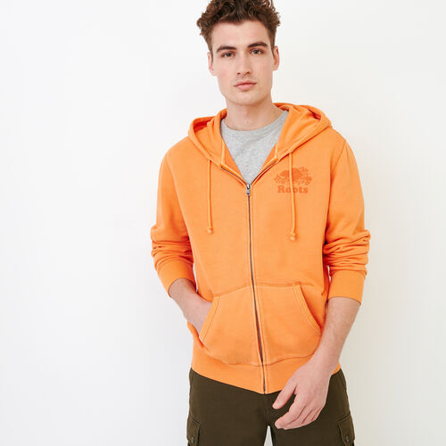 Roots-Men Bestsellers-Sun-oka Cooper Zip Hoody-Jaffa Orange-A