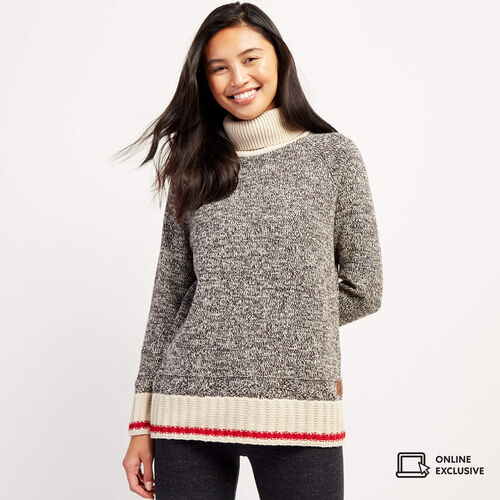 Roots-New For November Online Exclusives-Cabin Turtleneck Sweater-Grey Oat Mix-A