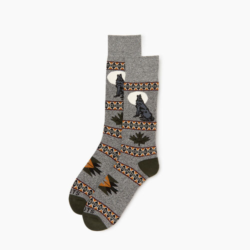 Roots-Men Our Favourite New Arrivals-Wilderness Boot Sock-Loden-A
