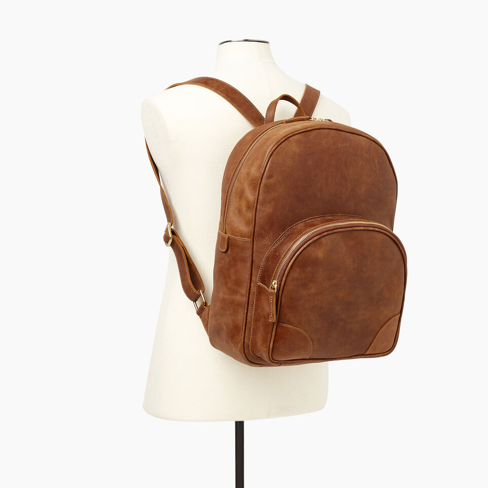 Roots-Leather Our Favourite New Arrivals-Jasper Backpack-Natural-B