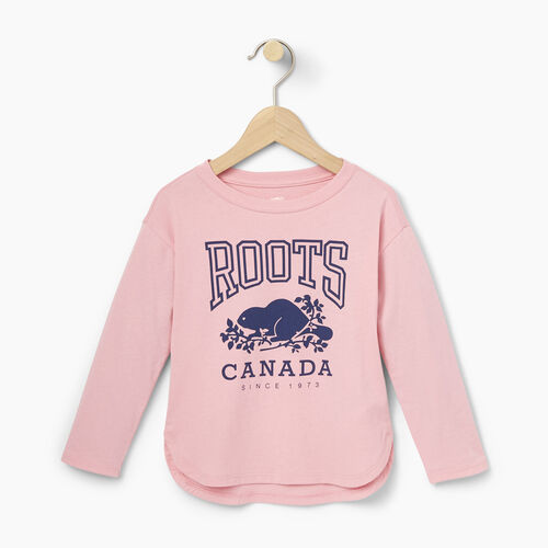 Roots-Kids Toddler Girls-Toddler Roots Classic Top-Sea Pink-A