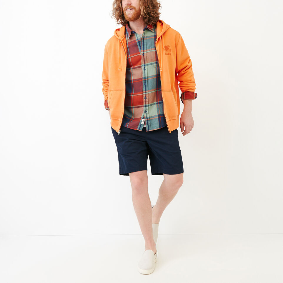 Roots-Men Our Favourite New Arrivals-Lakewood Plaid Shirt-Sargasso Sea-B