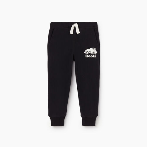 Roots-Kids New Arrivals-Toddler Park Slim Sweatpant-Black-A