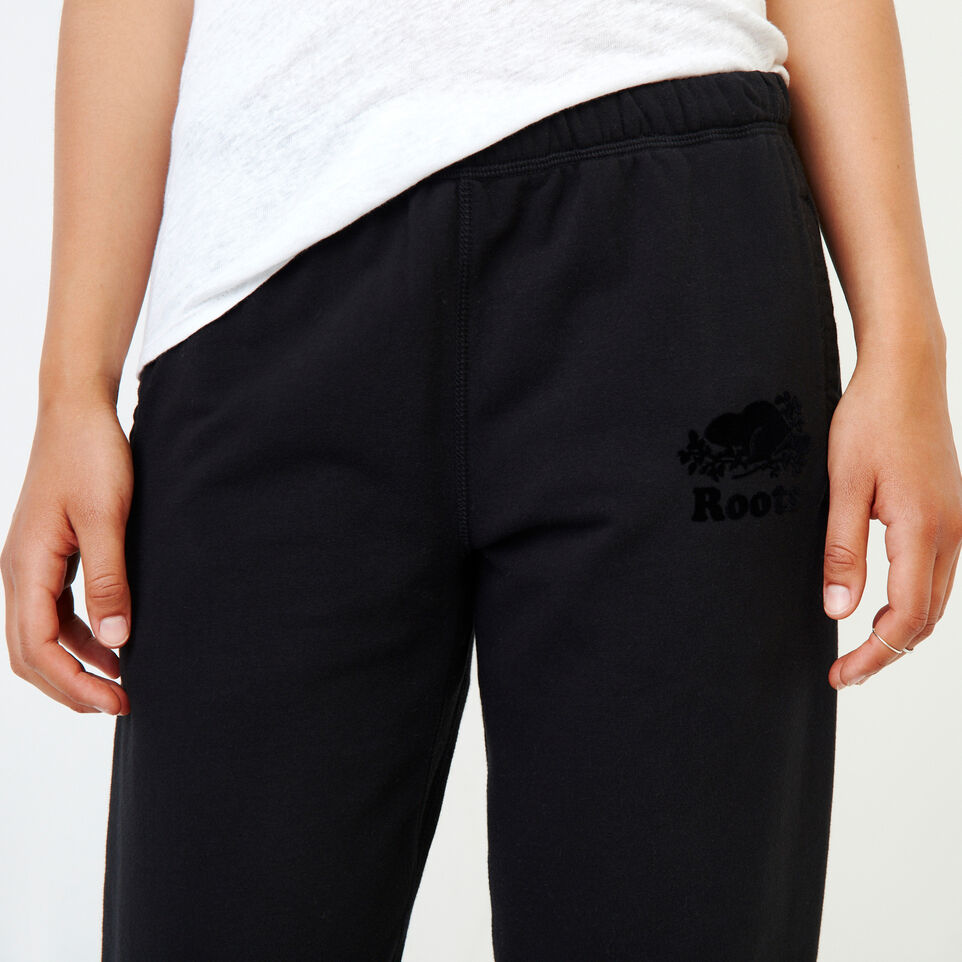 Roots-Women Our Favourite New Arrivals-Original Cozy Sweatpant-Black-E