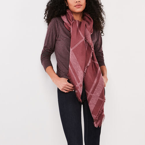Roots-Women Scarves & Wraps-Kelli Blanket Scarf-Wild Ginger-A