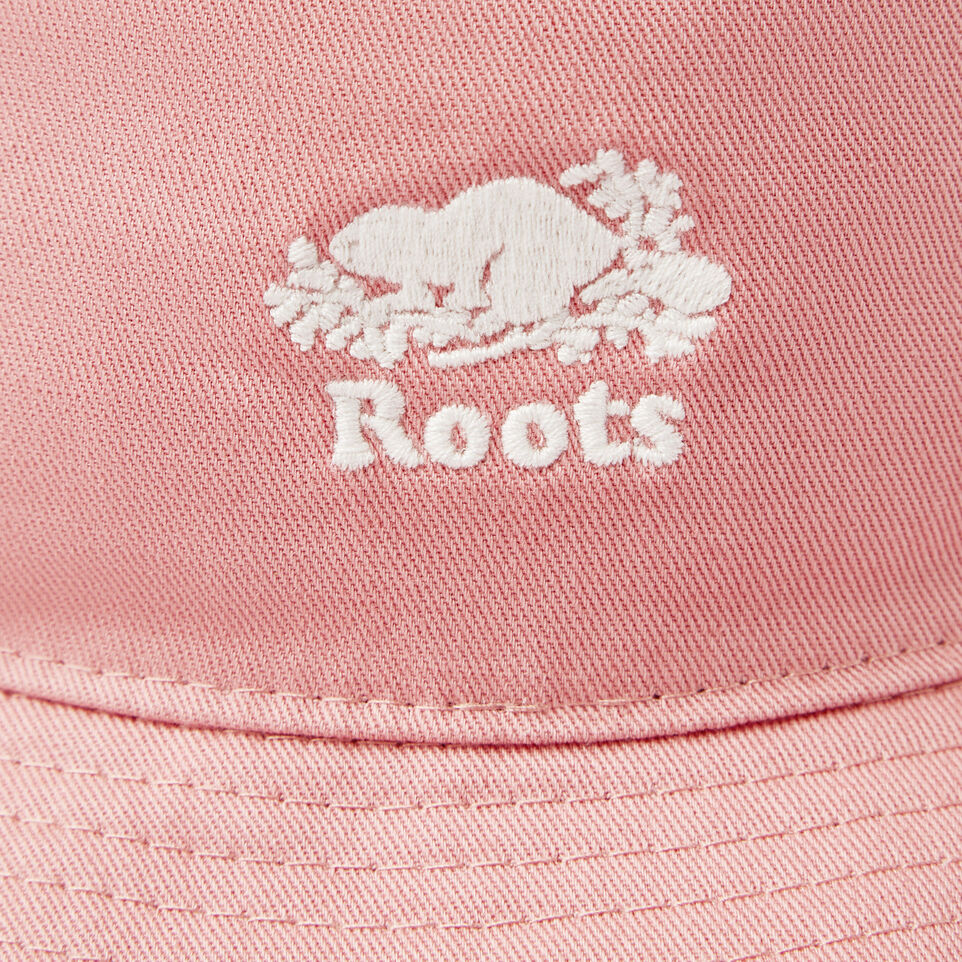 Roots-Kids Our Favourite New Arrivals-Toddler Canada Leaf Bucket Hat-Pink-E
