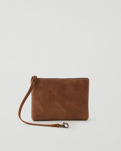 Roots-Leather Leather Accessories-Small Wristlet Tribe-Natural-A