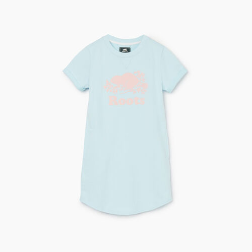 Roots-Kids Girls-Girls Edith Dress-Blue Glow-A