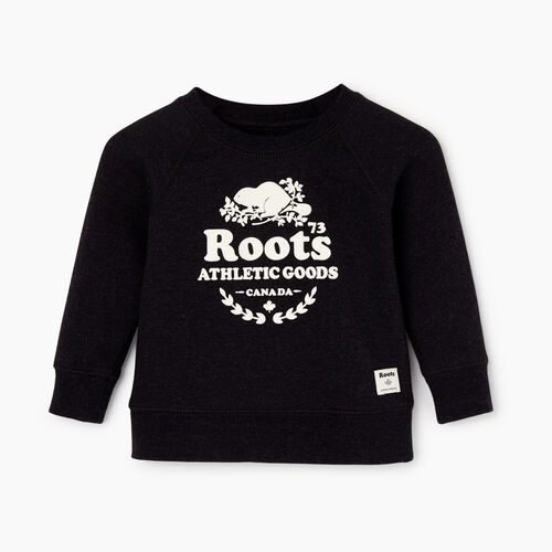 Roots-Kids Baby Girl-Baby Laurel Crewneck Sweatshirt-Black Mix-A