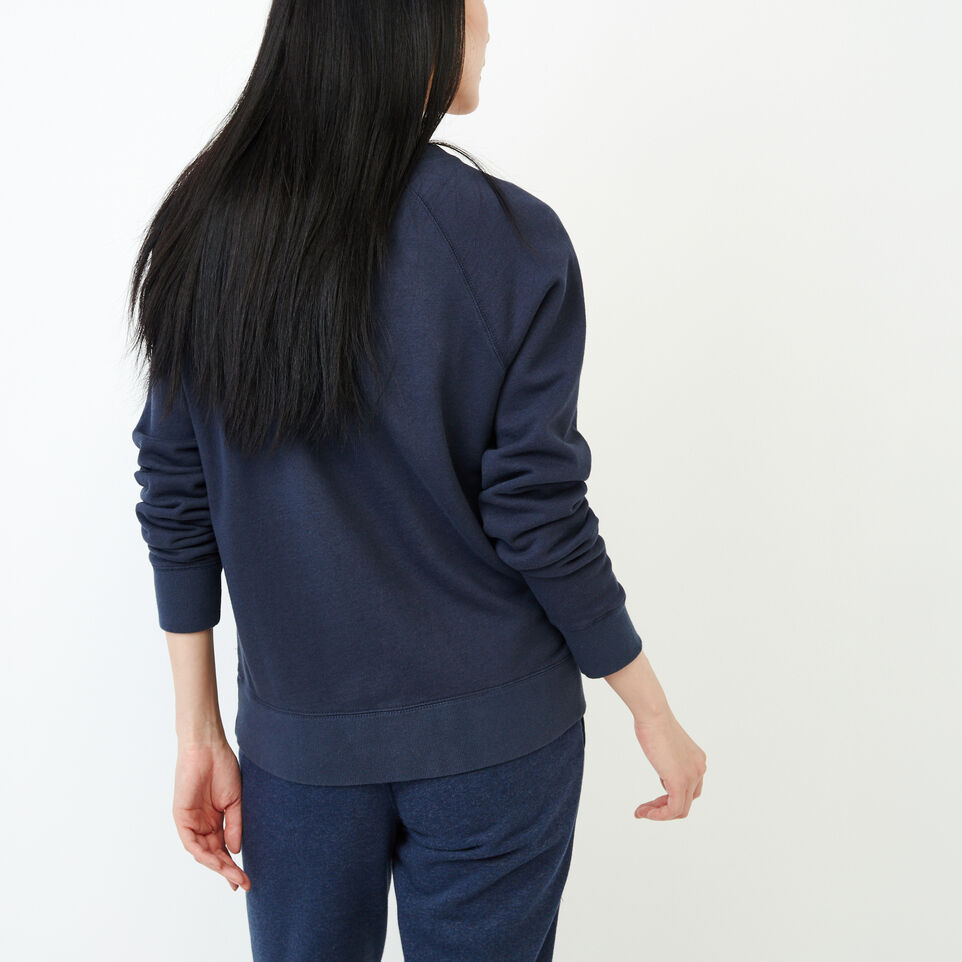 Roots-Women Our Favourite New Arrivals-Vault Relaxed Crew Sweatshirt-Graphite Mix-D