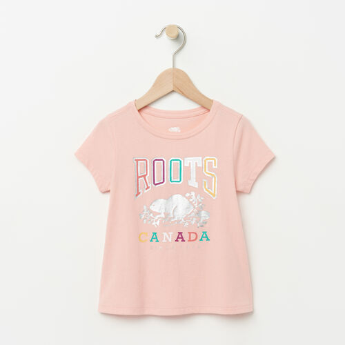 Roots-Kids T-shirts-Toddler Swing T-shirt-Blossom Pink-A