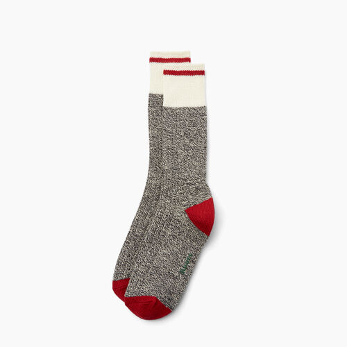 Roots-Men Bestsellers-Mens Roots Pop Cabin Sock 3 Pack-Grey Oat Mix-A