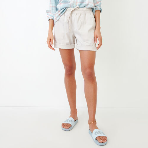 Roots-Women Shorts-Essential Short-Wind Chime-A