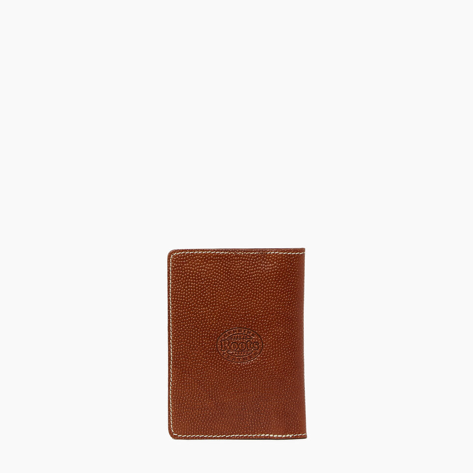 Roots-Leather  Handcrafted By Us Our Favourite New Arrivals-Horween Passport Wallet-Cognac-C