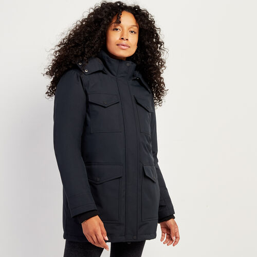 Roots-Women Outerwear-Roots Sustainable Parka-Black-A