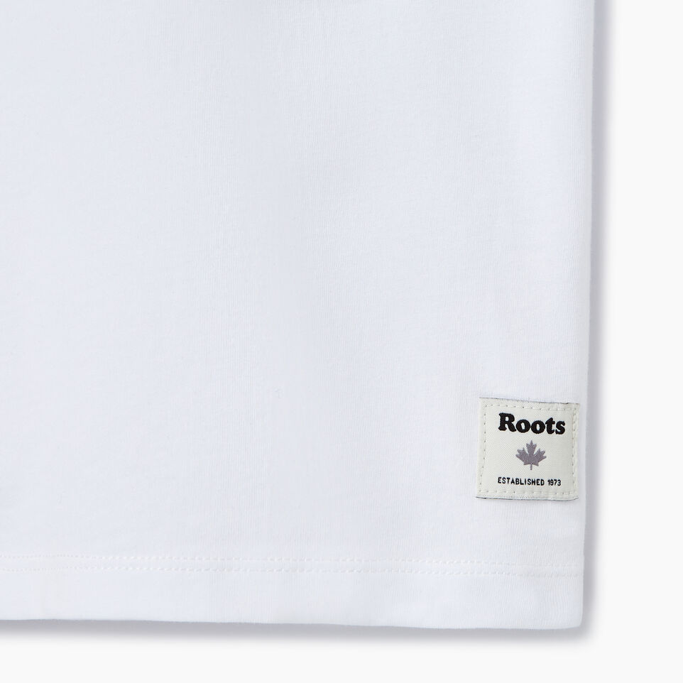Roots-New For July Daily Offer-Womens Block 1973 Canada T-shirt-Crisp White-C