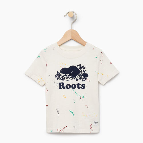 Roots-Clearance Kids-Toddler Splatter Aop T-shirt-Cannoli Cream-A