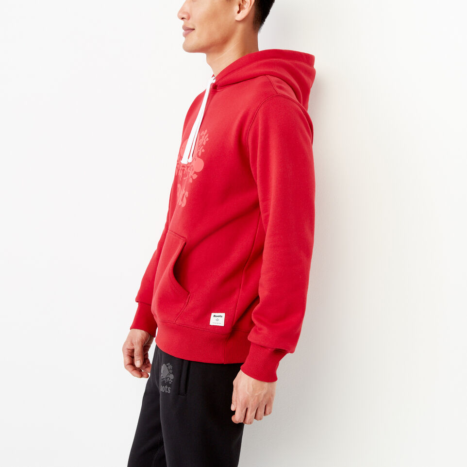 Roots-Men Our Favourite New Arrivals-Cooper Reflect Hoody-Lodge Red-C