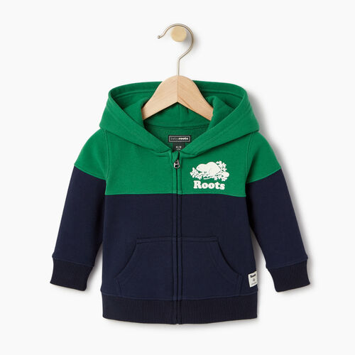 Roots-Clearance Kids-Baby Colour Block Cooper Hoody-Navy Blazer-A