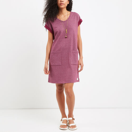 Roots-Women Sweats-Mabel Lake Dress-Purple Potion Pepper-A