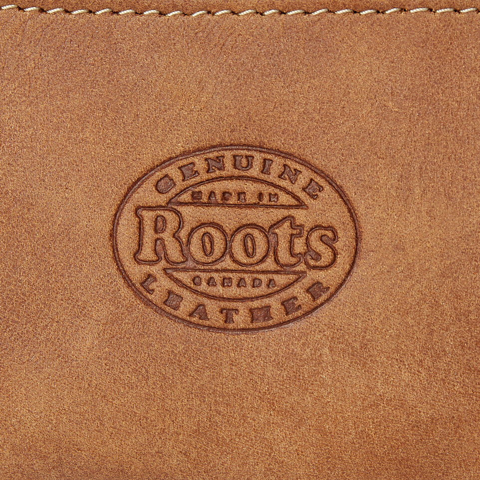 Roots-Leather  Handcrafted By Us Our Favourite New Arrivals-Maple Leaf Top Zip Pouch-Natural-D