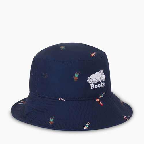 Roots-Kids Our Favourite New Arrivals-Toddler Swim Bucket Hat-Navy Blazer-A