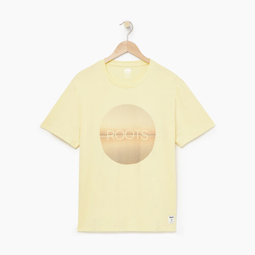 Roots-Men Our Favourite New Arrivals-Mens Horizons T-shirt-Lemon Meringue-A