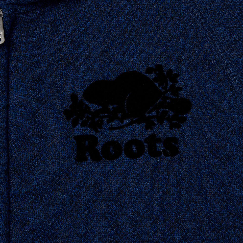 Roots-Clearance Kids-Boys Original Full Zip Hoody-Active Blue Pepper-C