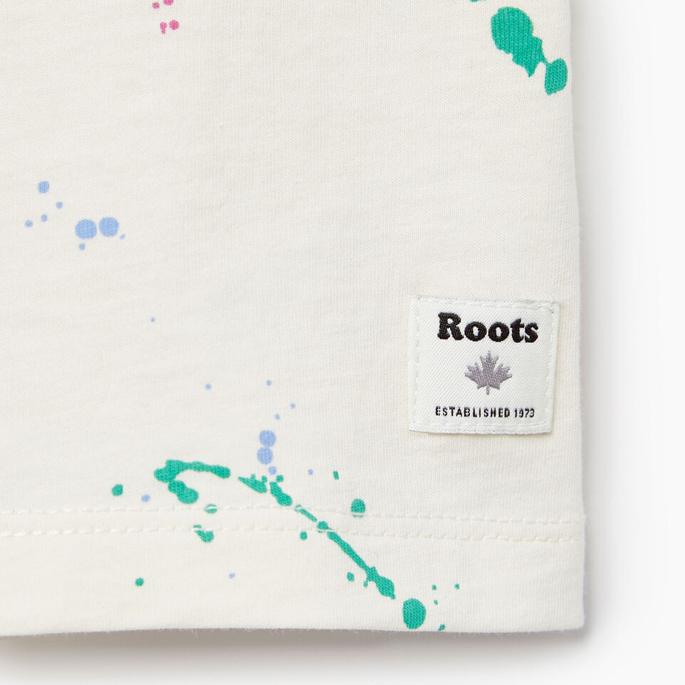 Roots-Kids Our Favourite New Arrivals-Baby Splatter Aop T-shirt-Cannoli Cream-C